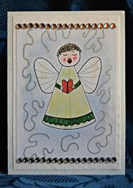 angel a singing diy christmas card allfreepapercrafts com