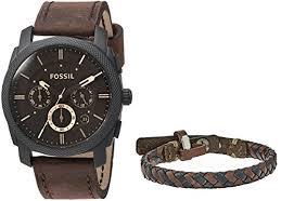 fossil man bracelet images Fossil mens fs5251set machine chronograph dark brown jpg