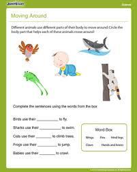 moving around u2013 free first grade science worksheet jumpstart