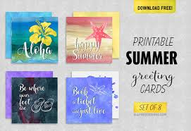 Business Cards With Quotes Summer Greeting Cards 10 Printable Designs With Feel Good Quotes