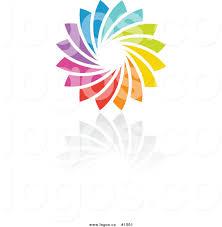 royalty free rainbow circle vector logo 4 by elena 1501