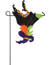 Flying Witch Decoration The Witch Is In Fun Halloween Witch Decor Flagsonastickblog Com