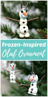 frozen inspired olaf ornament kids make rhythms of play
