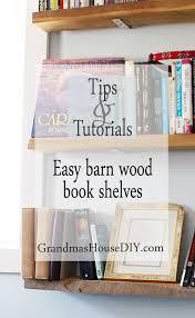 how to build easy barn wood book shelves grandmas house diy