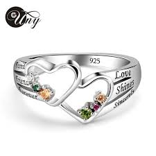 mothers ring uny ring custom heart mothers rings heart 925 silver