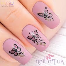pink gold glitter butterflies nail stickers art decals amazon