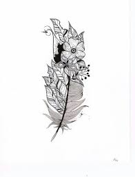peacock feather and flower tattoo designs people get tattoos