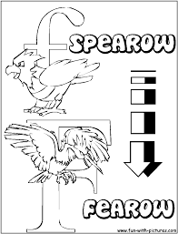 f spearow fearow pokemon alphabets coloring pages pokemonia