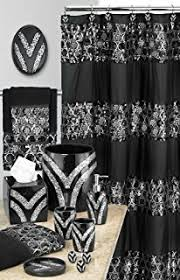 amazon com burgundy black red jane 15 piece bathroom set 2 rugs