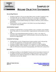 Sample Accounting Resume Objective by Charming Accounting Resume Objective 12 Resume Example