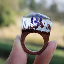 jewelry wooden rings images Beautiful women handmade designer rings wooden rings magical jpg