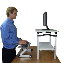 lift monitor stand w keyboard u0026 mouse tray