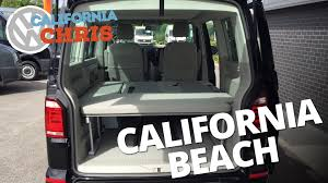 volkswagen beach 2016 volkswagen t6 california beach 2 seat bench video youtube