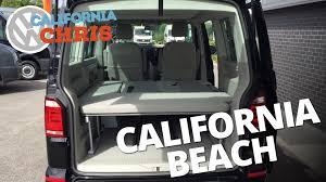 volkswagen beach 2016 volkswagen t6 california beach 2 seat bench video youtube