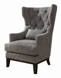 Grey And White Accent Chairs Amazon Com Homelegance 1217f1s Accent Chair With Kidney Pillow