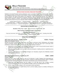 Montessori Teacher Resume Sample by Special Education Teacher Resume Sample Page 1 Special