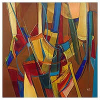 abstract paintings at novica oil u0026 acrylic abstracts on canvas