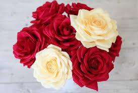 paper roses 5 roses paper roses bouquet paper flower big roses