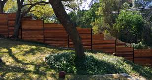 6 u0027h horizontal cedar privacy fence framed between 3