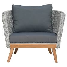 Mid Century Modern Outdoor Furniture Mid Century Modern Outdoor Arm Chair Natural Gray Zm Home Target