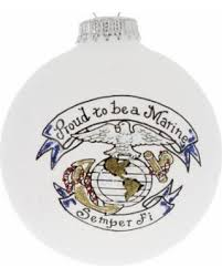 get the deal us marine proud glass ornament usmc made