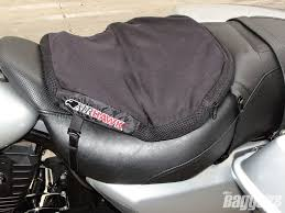 baggers tested airhawk motorcycle seat cushion baggers