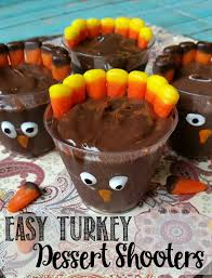 turkey dessert shooters easy thanksgiving recipe not quite