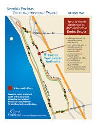 Map Of Carlsbad Ca Temporary Detour On Avenida Encinas In Carlsbad Starts This Week