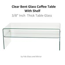 bent glass coffee table clear 3 thippo
