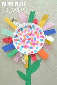 paper plate flower fine motor craft flower craft and activities