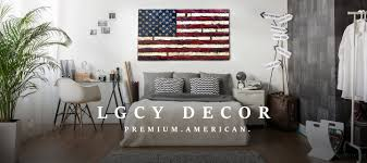 Wooden American Flag Wall Hanging Lgcy Decor Charred And Carved Wood American Flags