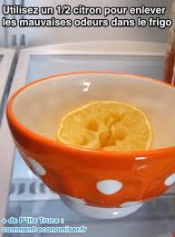 enlever odeur de cuisine mauvaises odeurs dans le frigo utilisez un citron pour le désodoriser