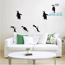 cute penguin art decal removable wall sticker animal room decor cute penguin art decal removable wall sticker animal room decor environmental protection
