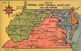 virginia map map of virginia west virginia maryland and delaware maps