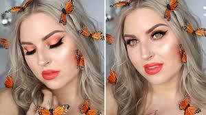 butterfly fairy costume makeup glamorous orange u0026 neutral