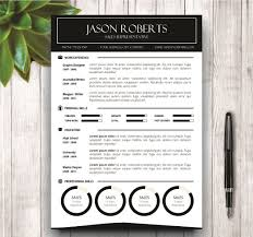 Best Resume Fonts Creative by Black And White Resume Template Resume Templates Creative Market