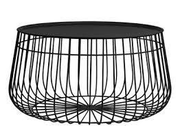 Wire Coffee Table Wire Coffee Table Removable Tray ø 62 X H 35 Cm Black By Pols