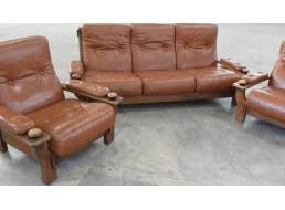 canape cuir rustique rustique trois pièces canapé fauteuils cuir