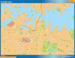 Sydney Map Our Sydney Bay Map Wall Maps Mapmakers Offers Poster Laminated