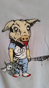 supreme x sean cliver pig head tee og size l short sleeve t