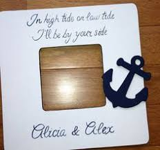 wedding quotes nautical navy painted nautical wooden picture frame by craftybycasey
