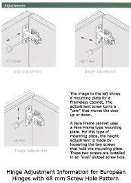European Hinges For Kitchen Cabinets Adjusting Cabinet Hinges Adjust Cabinet Hinges How To Adjust