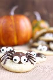 Halloween Pumpkin Sugar Cookies - caramel spider cookies 30 days of halloween 2016 day 16