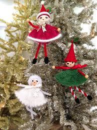 santa elf and snow queen free pattern preview knitionary