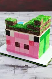 haniela u0027s minecraft cake enderman u0026 piggie
