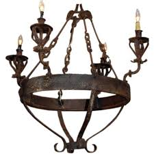 Colonial Chandelier Spanish Colonial Style Wrought Iron Chandelier Haskell Antiques