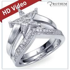 star wedding rings images Star diamond rings wedding promise diamond engagement rings jpg