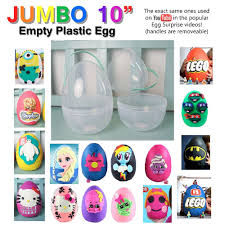 Large Plastic Easter Eggs Decorations by New Jumbo Xl 10
