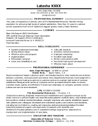 exles of professional summary for resume optometric technician resume exle professional summary