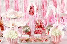 ruffled streamers dessert table the party